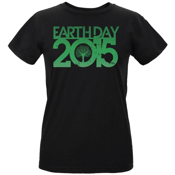 Earth Day - 2015 Tree Women's Organic Black T-Shirt