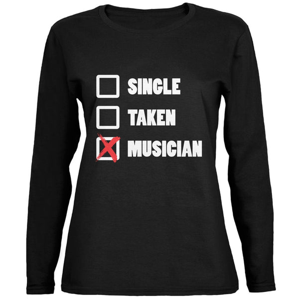 Single Taken Musician Black Ladies Long Sleeve T-Shirt