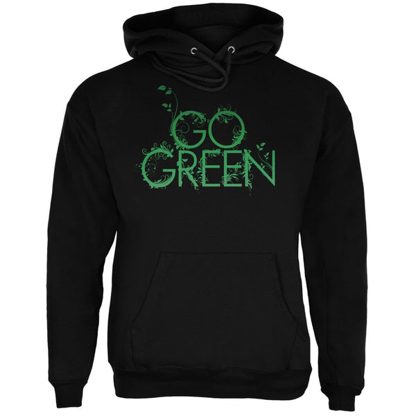 Earth Day - Go Green Black Adult Hoodie