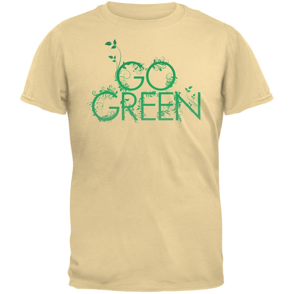 Earth Day - Go Green Adult Organic Yellow T-Shirt