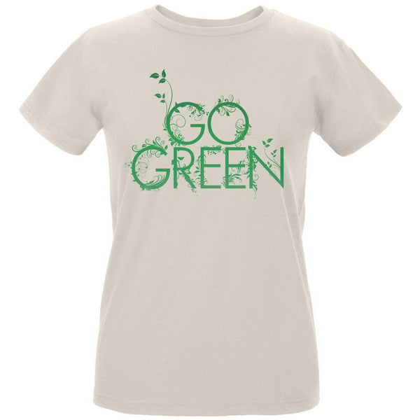 Earth Day - Go Green Women's Organic Natural T-Shirt