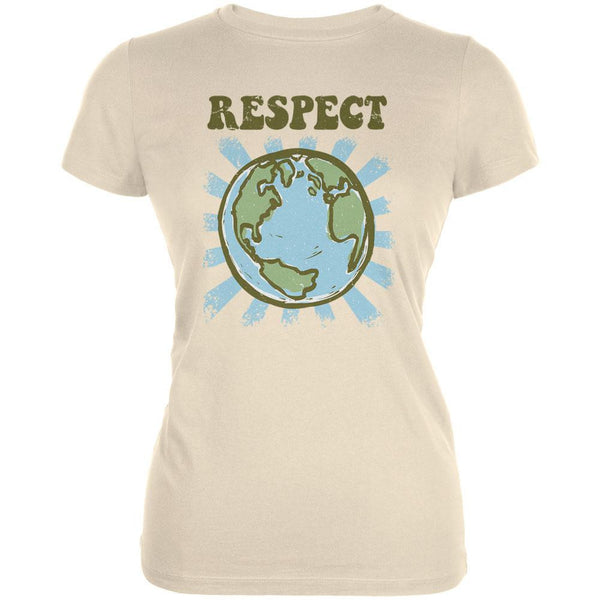 Earth Day - Respect Earth Cream Juniors Soft T-Shirt