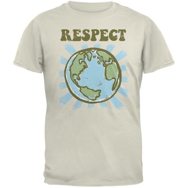 Earth Day - Respect Earth Natural Adult T-Shirt