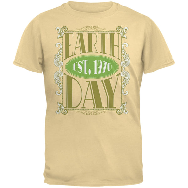 Earth Day - Vintage Earth Day Est. 1970 Adult Organic Yellow T-Shirt
