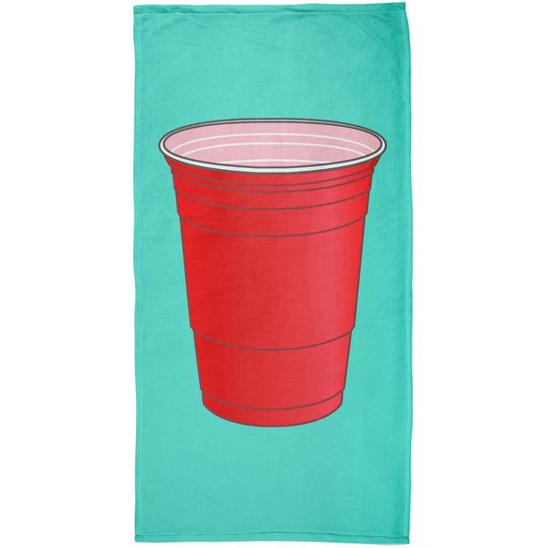 Beer Pong Cup All Over Beach Towel
