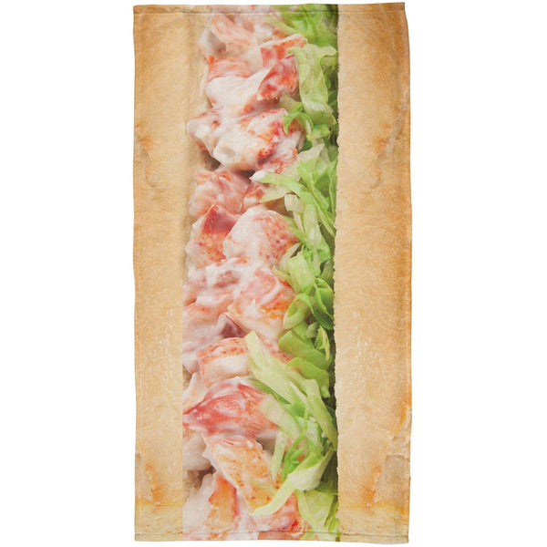 Lobster Roll All Over Beach Towel