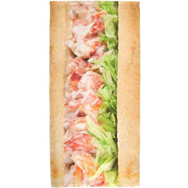 Lobster Roll All Over Bath Towel