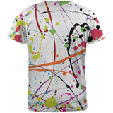 Splatter Paint White All Over Adult T-Shirt