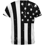 B American Flag All Over Adult T-Shirt