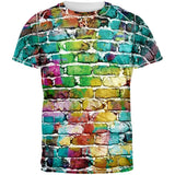 Colored Bricks All Over Adult T-Shirt