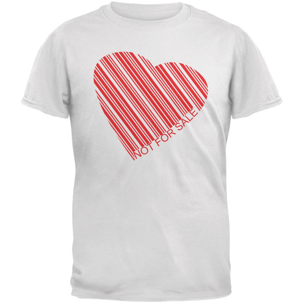 Not For Sale Heart White Adult T-Shirt