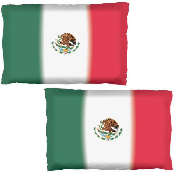 Mexican Flag Pillow Case Set