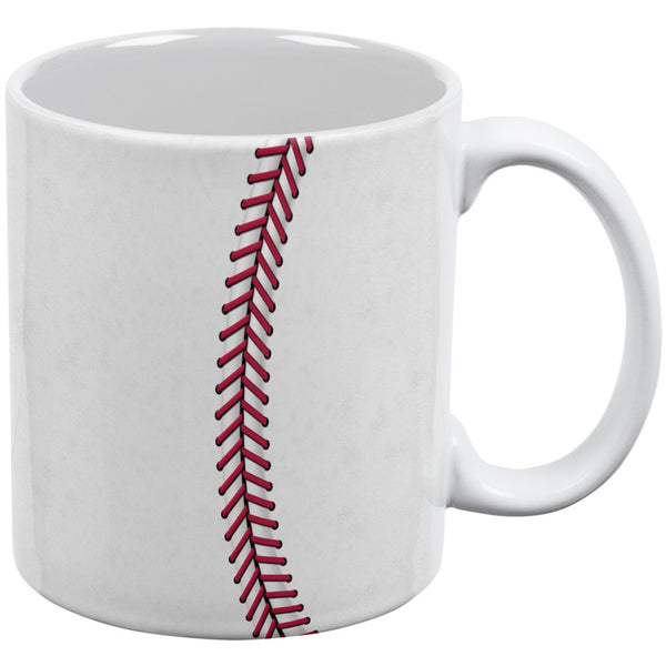 Baseball White All Over Coffee Mug