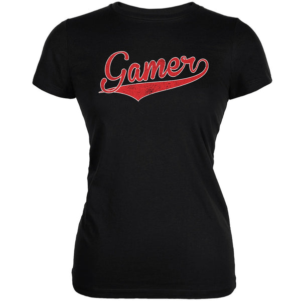 Gamer Black Juniors Soft T-Shirt