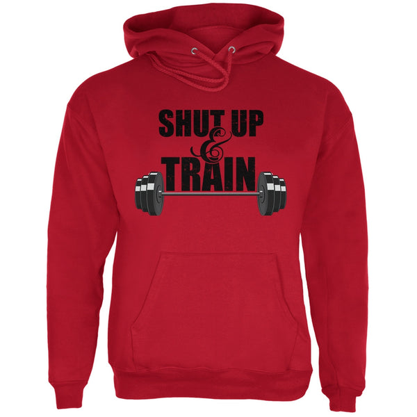 Shut Up & Train Red Adult Hoodie