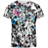 Grunge Triangle Pattern All Over Adult T-Shirt