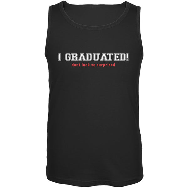 Graduation - Don't Look So Surprised Black Adult Tank Top