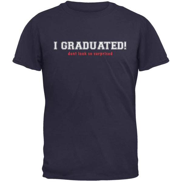 Graduation - Don't Look So Surprised Navy Adult T-Shirt