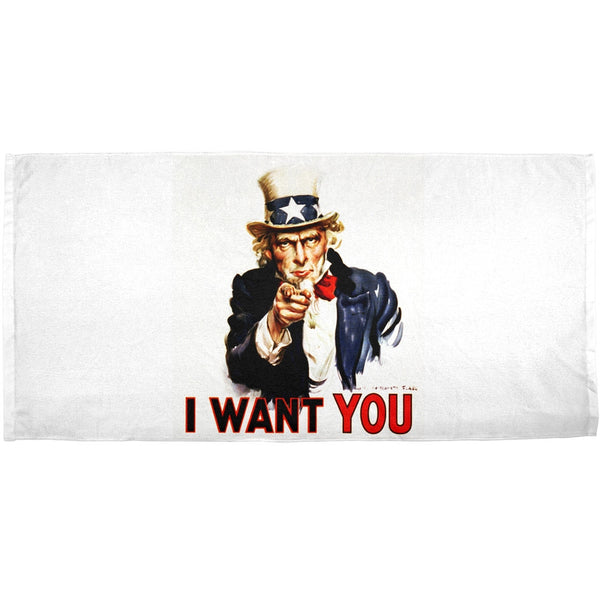 Uncle Sam Wants You All Over Bath Towel