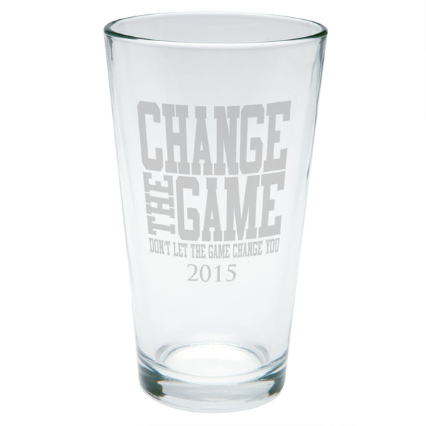 Graduation Change The Game Etched Pint Glass