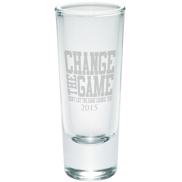 Graduation Change The Game Etched Shot Glass Shooter