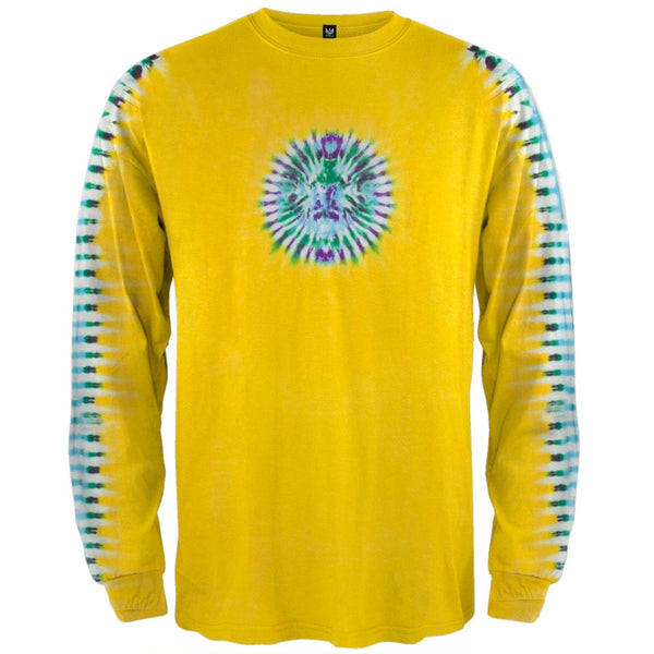Yellow Pleated Sleeve Long Sleeve T-Shirt