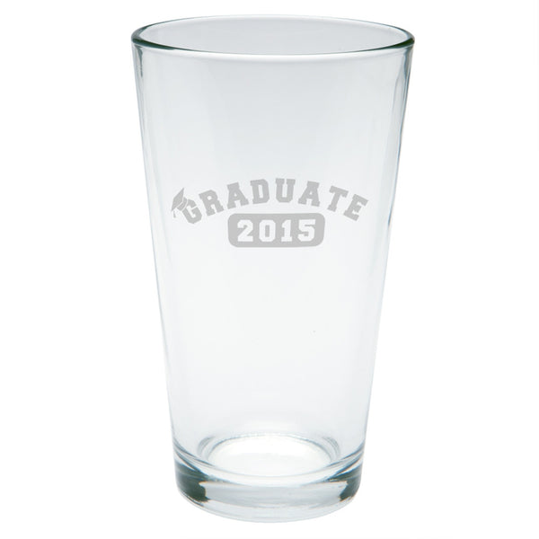 Graduation Graduate 2015 Etched Pint Glass