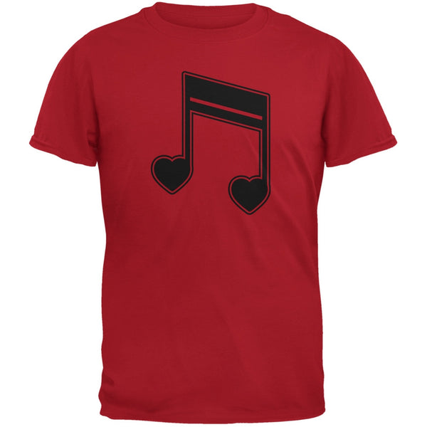 16th Note Hearts Red Youth T-Shirt