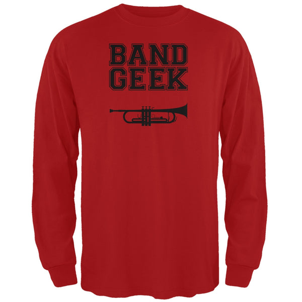 Band Geek Trumpet Red Adult Long Sleeve T-Shirt