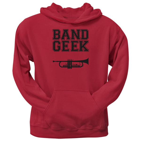Band Geek Trumpet Red Adult Hoodie