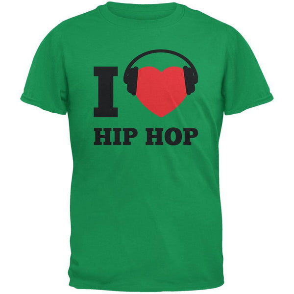 I Heart Hip Hop Irish Green Adult T-Shirt