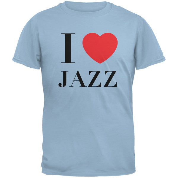 I Heart Jazz Light Blue Adult T-Shirt