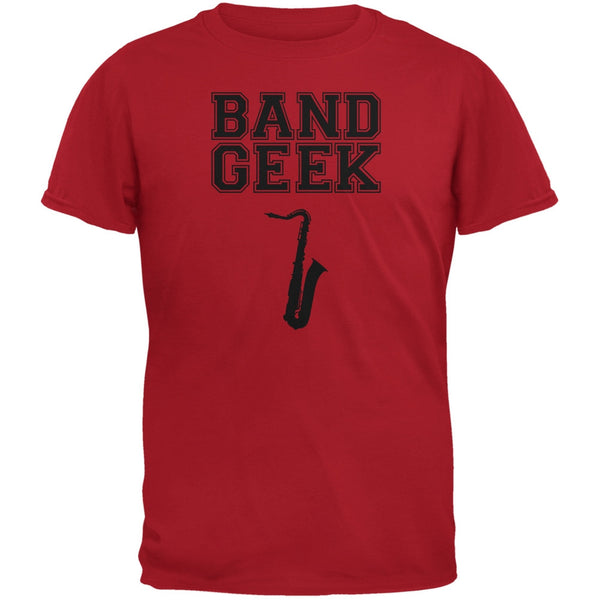 Band Geek Sax Red Youth T-Shirt