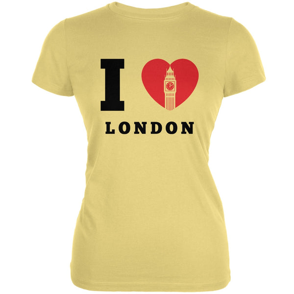 I Heart London Yellow Juniors Soft T-Shirt