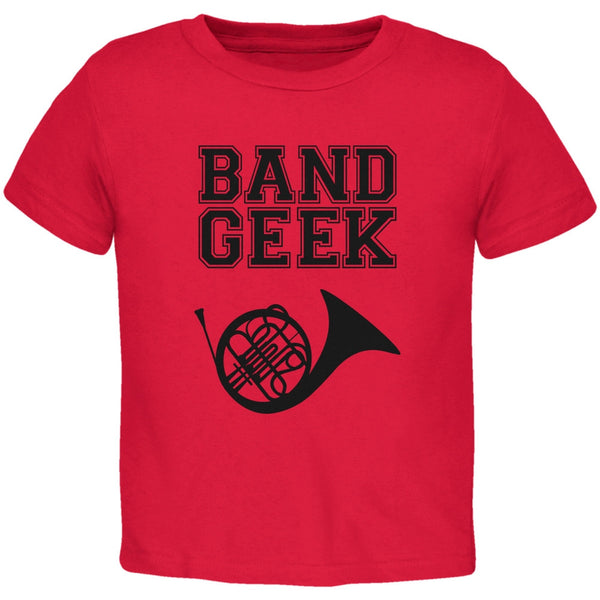 Band Geek French Horn Red Toddler T-Shirt