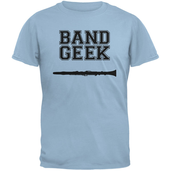 Band Geek Clarinet Light Blue Adult T-Shirt