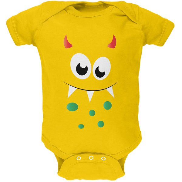 Monster Face Yellow Soft Baby One Piece