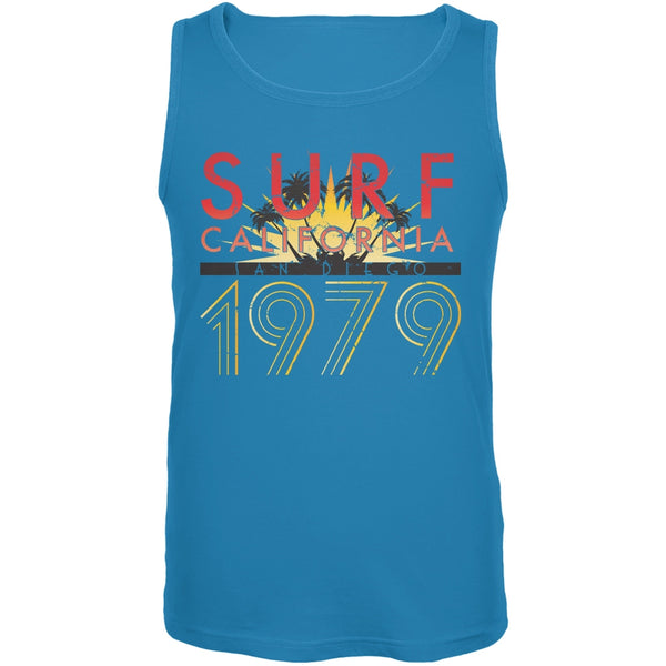 Cali Surf 1979 Turquoise Adult Tank Top