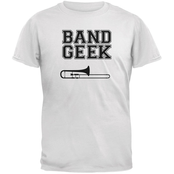 Band Geek Trombone White Youth T-Shirt