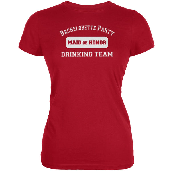 Bachelorette Party Drinking Team MOH Red Juniors Soft T-Shirt
