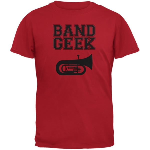 Band Geek Tuba Red Youth T-Shirt