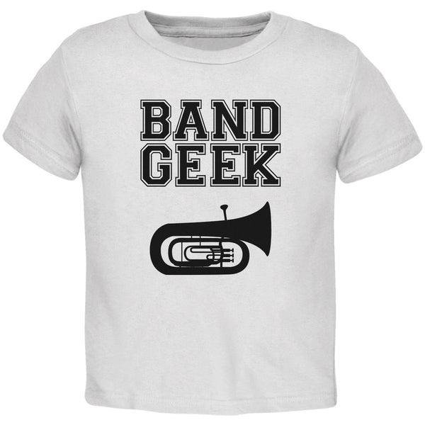 Band Geek Tuba White Toddler T-Shirt