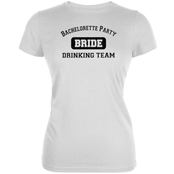 Bachelorette Party Drinking Team Bride White Juniors Soft T-Shirt