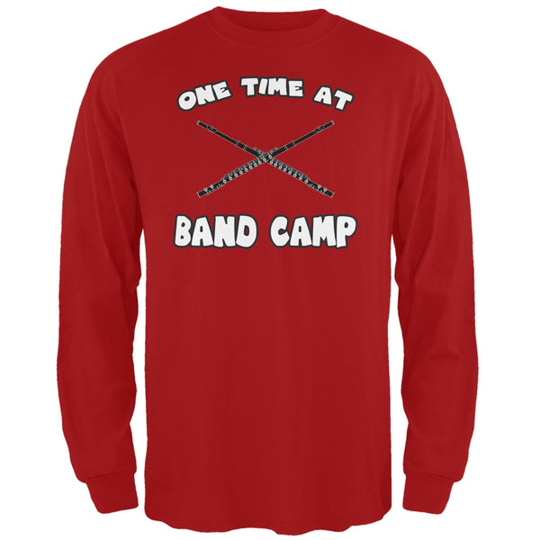 Band Camp Red Adult Long Sleeve T-Shirt