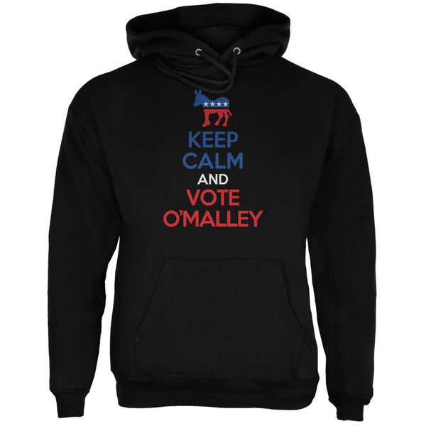 Election 2016 Keep Calm and Vote O'Malley Black Adult Hoodie