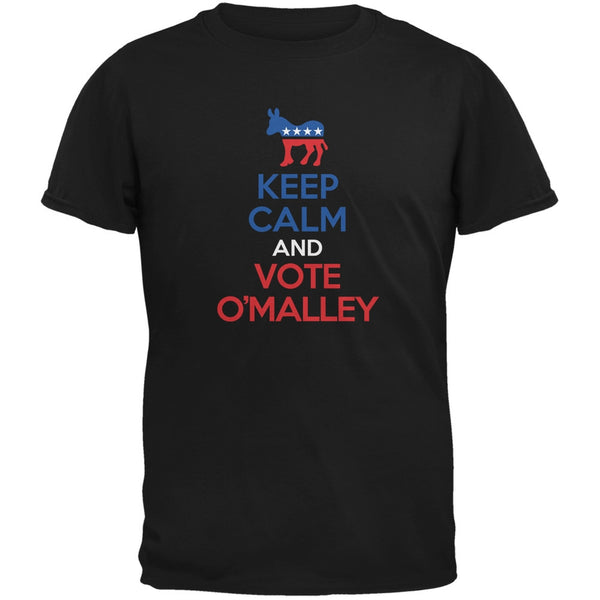 Election 2016 Keep Calm and Vote O'Malley Black Adult T-Shirt