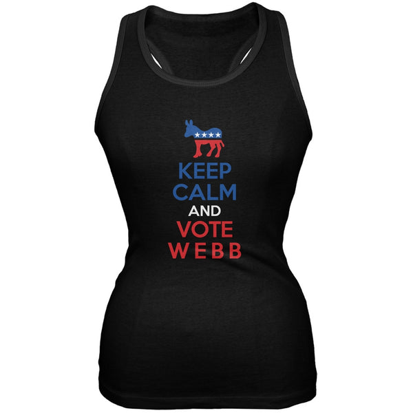 Election 2016 Keep Calm and Vote Webb Black Juniors Soft Tank Top