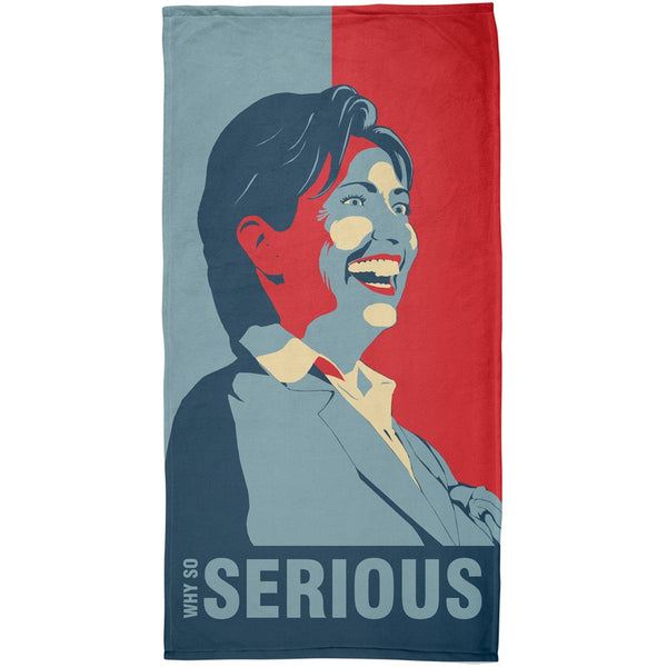 Election 2016 Hillary Clinton Why Serious All Over Beach Towel