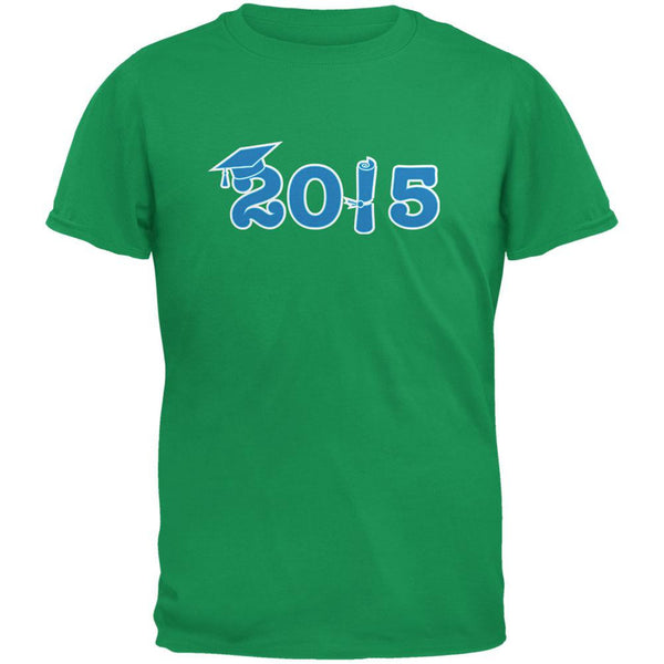 Graduation - 2015 Diploma & Cap Irish Green Adult T-Shirt