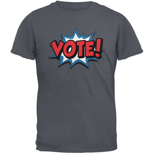 Election Comic Style VOTE! Charcoal Grey Adult T-Shirt